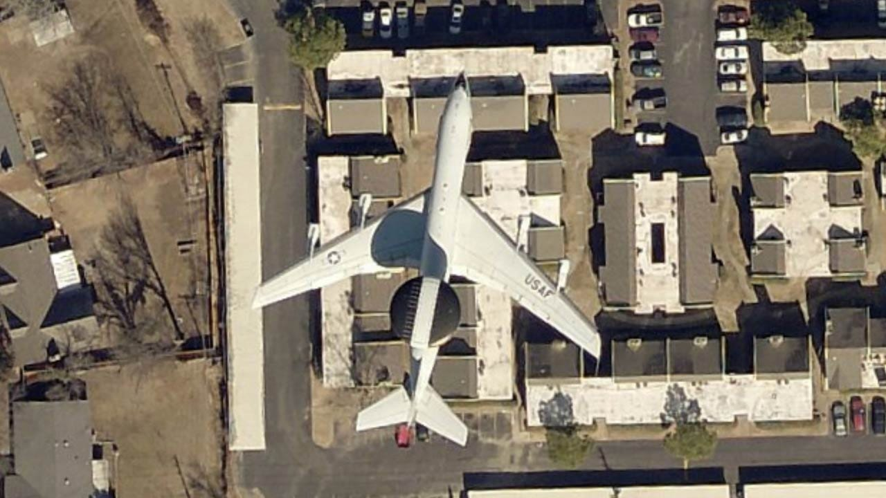 INCOG Aerial Photo Snaps Air Force Jet Flying Low Over Tulsa