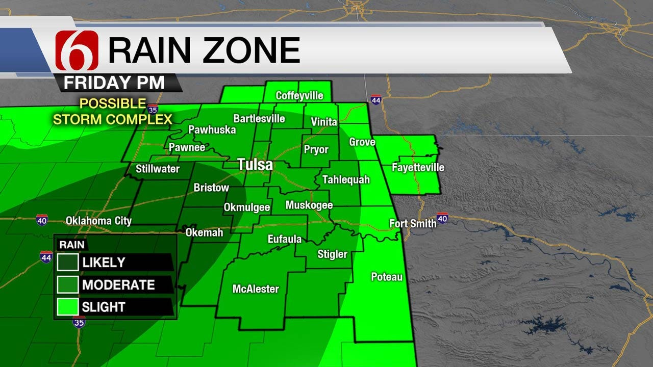 Tracking Thunderstorm Chances For Northeast Oklahoma
