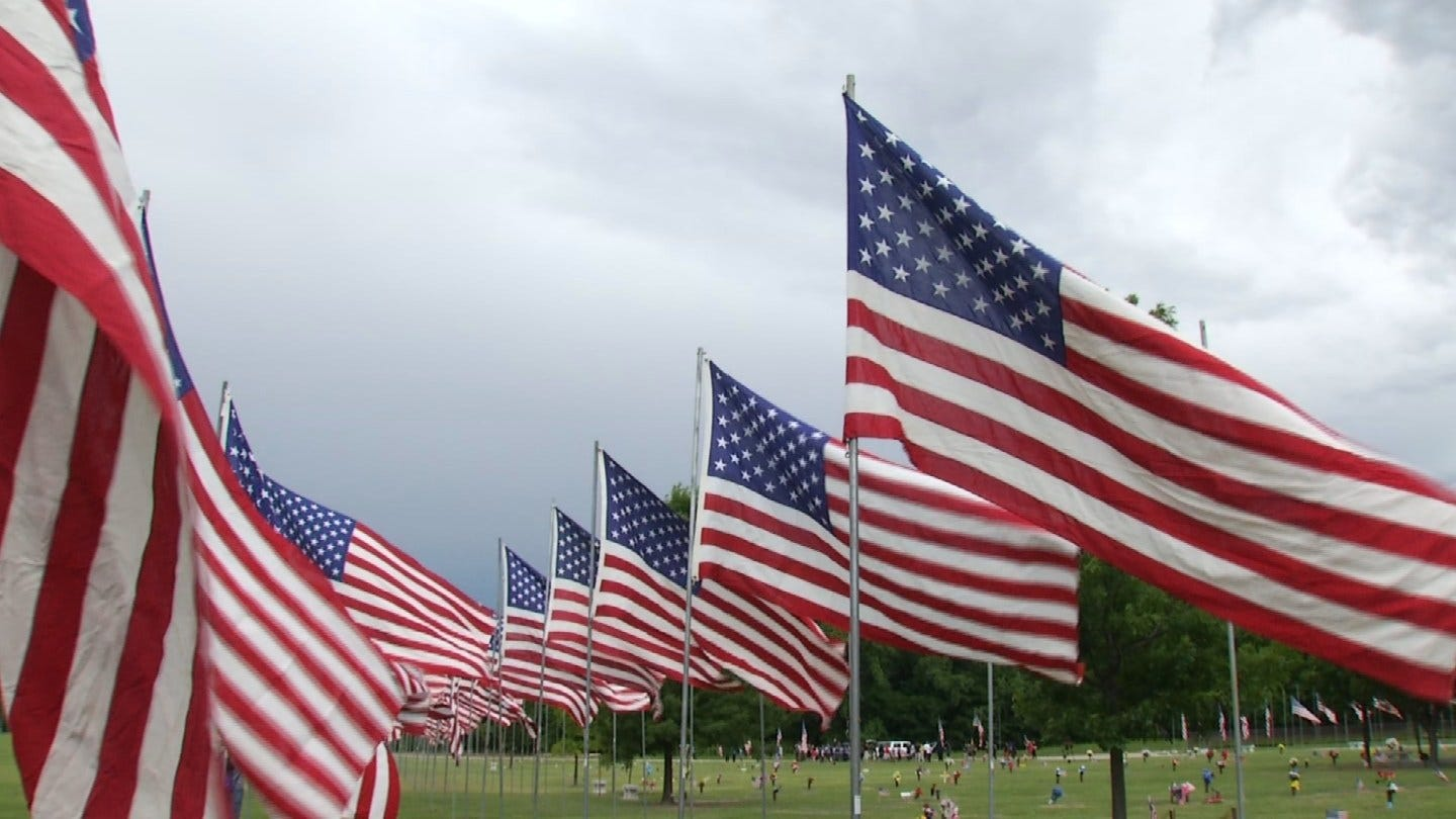 Floral Haven Funeral Home Holds Annual 'Avenue Of Flags' In Broken Arrow