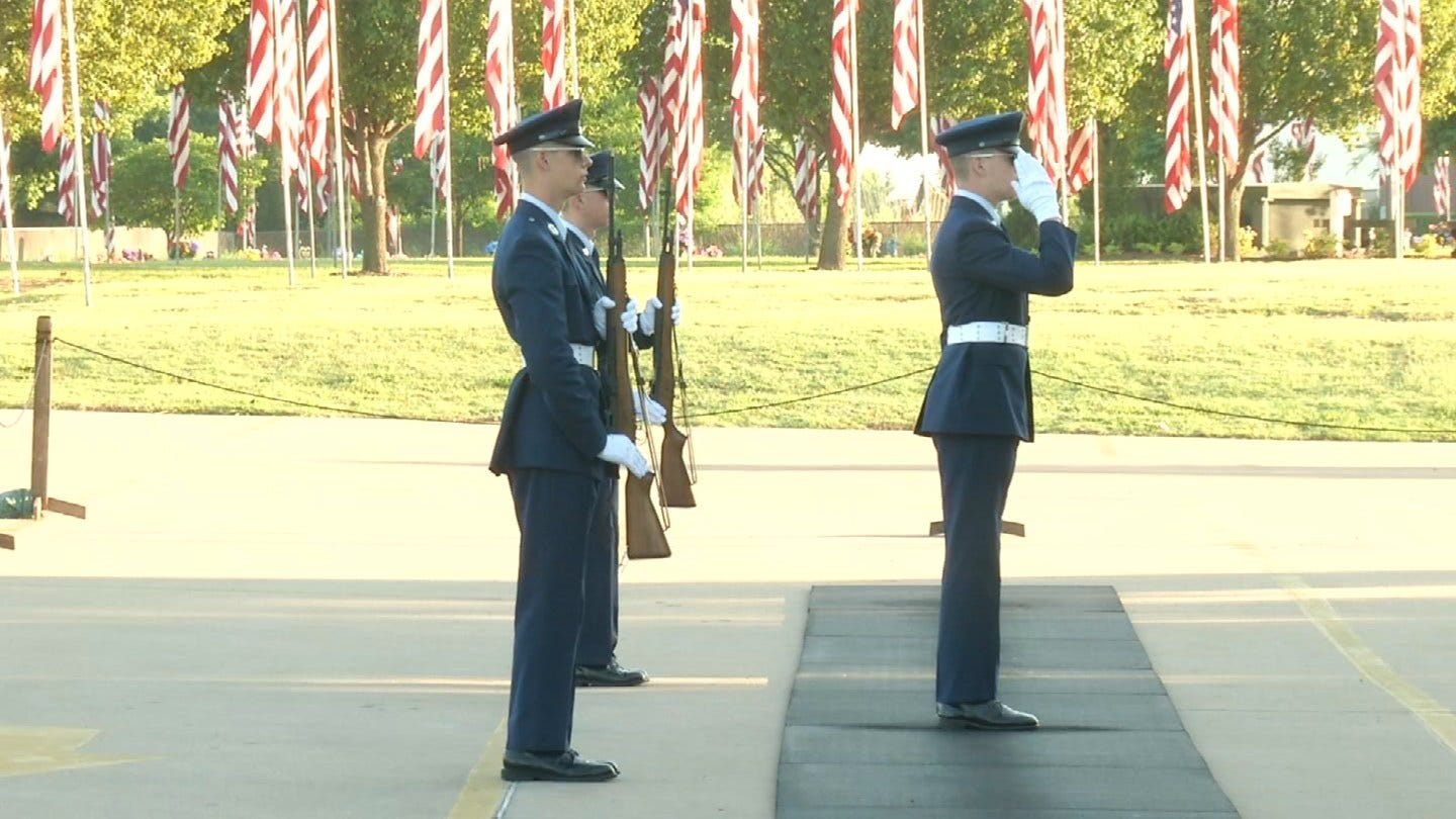 Broken Arrow Cemetery Holds Changing Of The Guard Ceremony