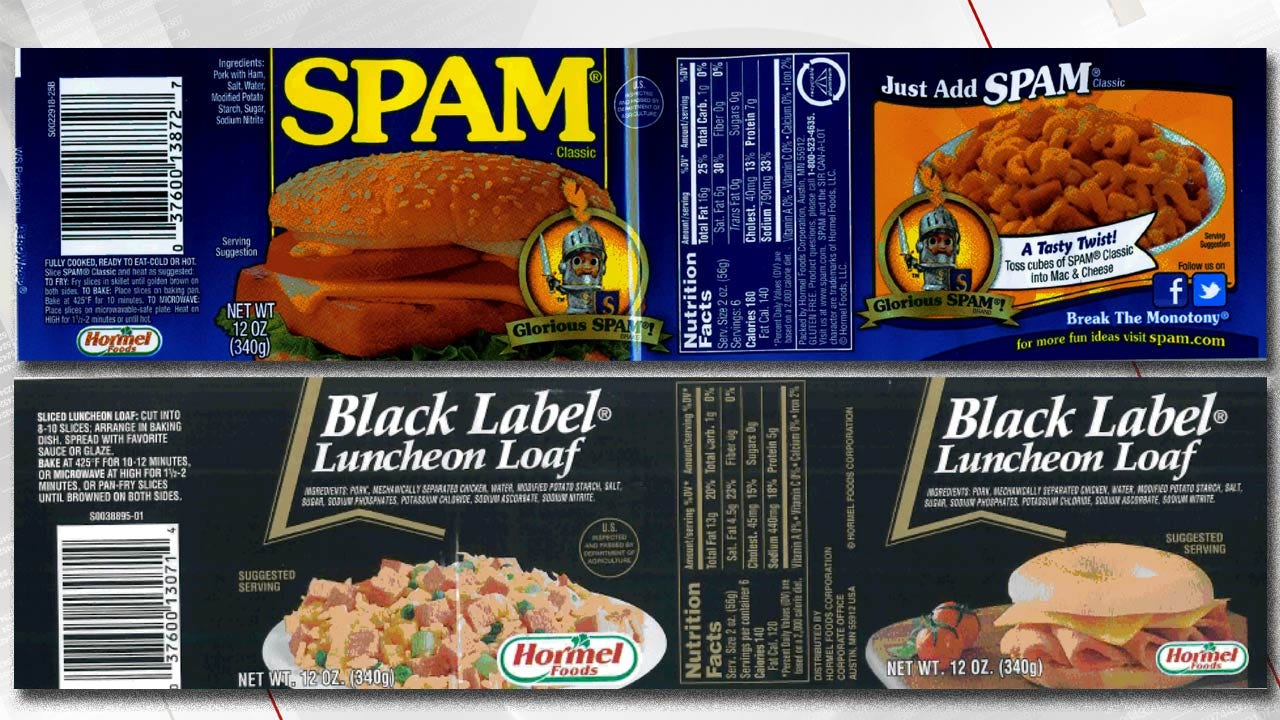 Over 220,000 Pounds Of Spam Recalled