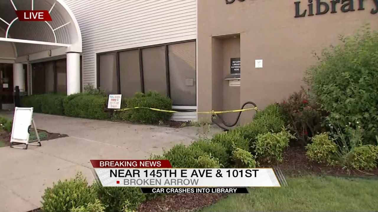 Mother, Child Injured After Car Drives Into Broken Arrow Library