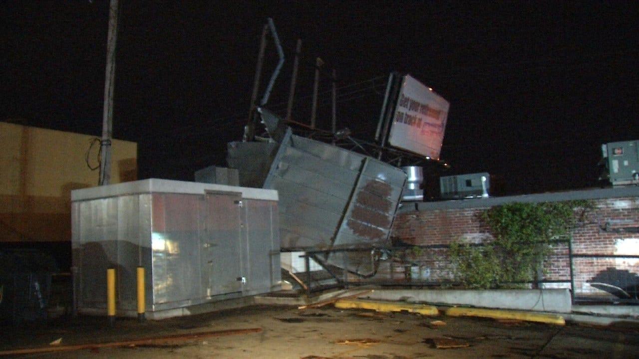 Storm Damages Phat Philly's In Tulsa