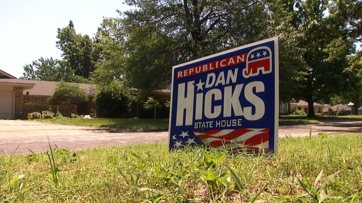 Tulsans Trained By City To Pick Up Campaign Signs