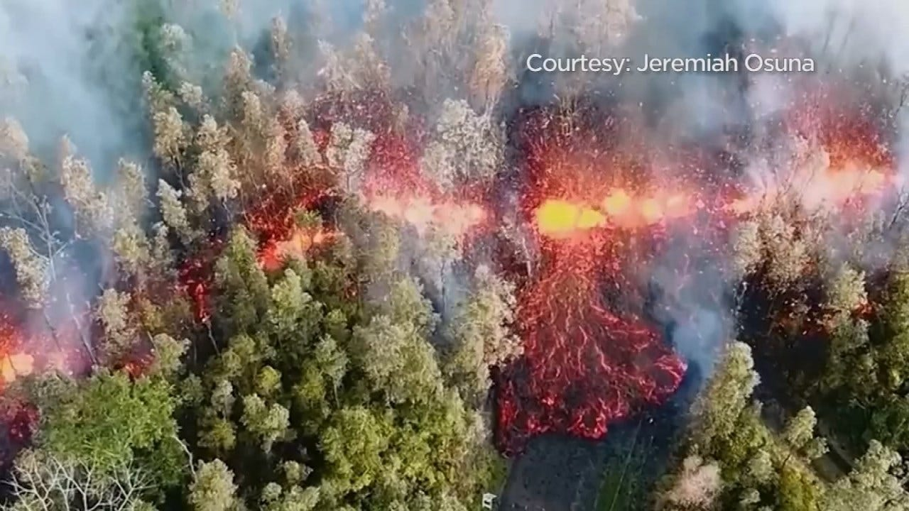 """Fountains Of Lava"" Spew From Hawaii Volcano; Evacuations Ordered"