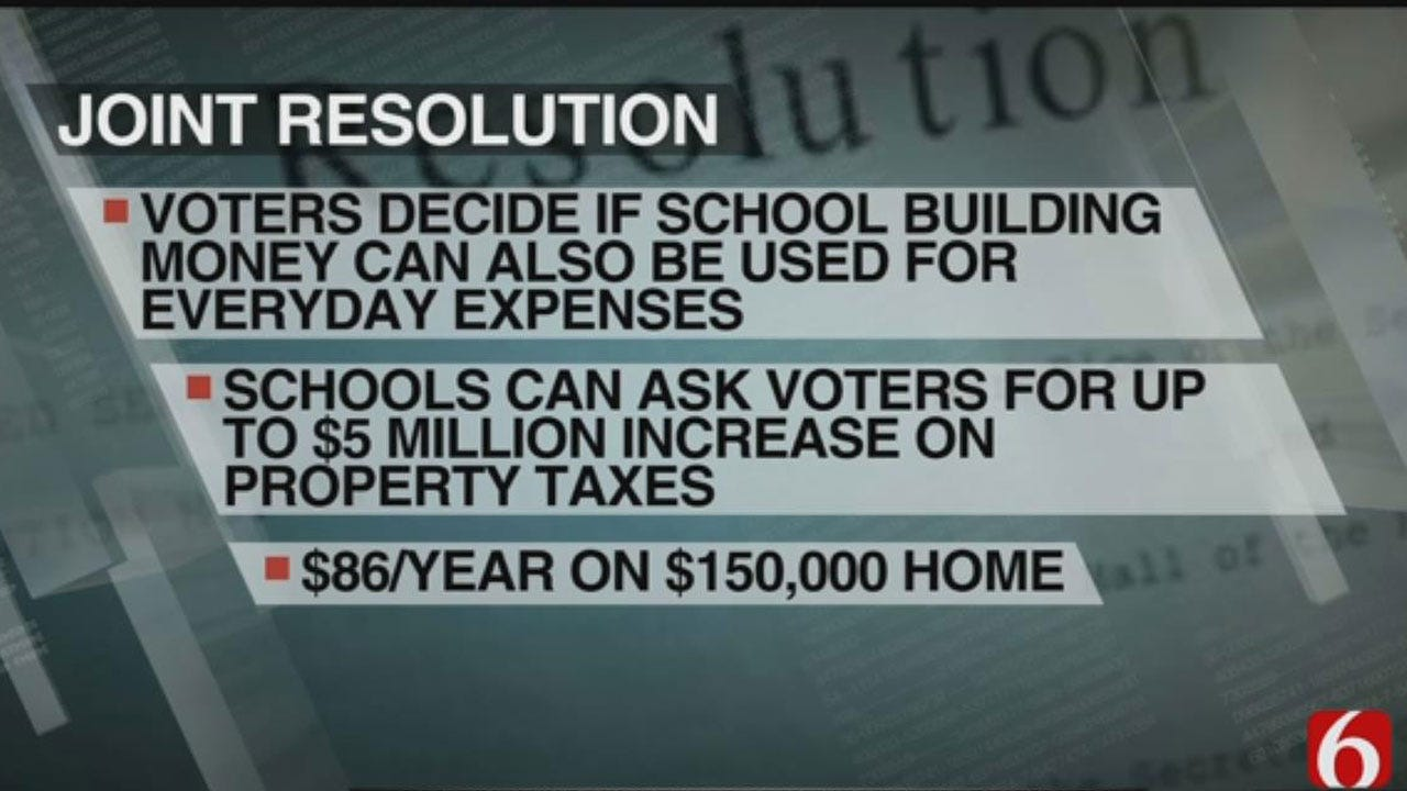 Joint Resolution Could Improve Funding For Oklahoma Schools