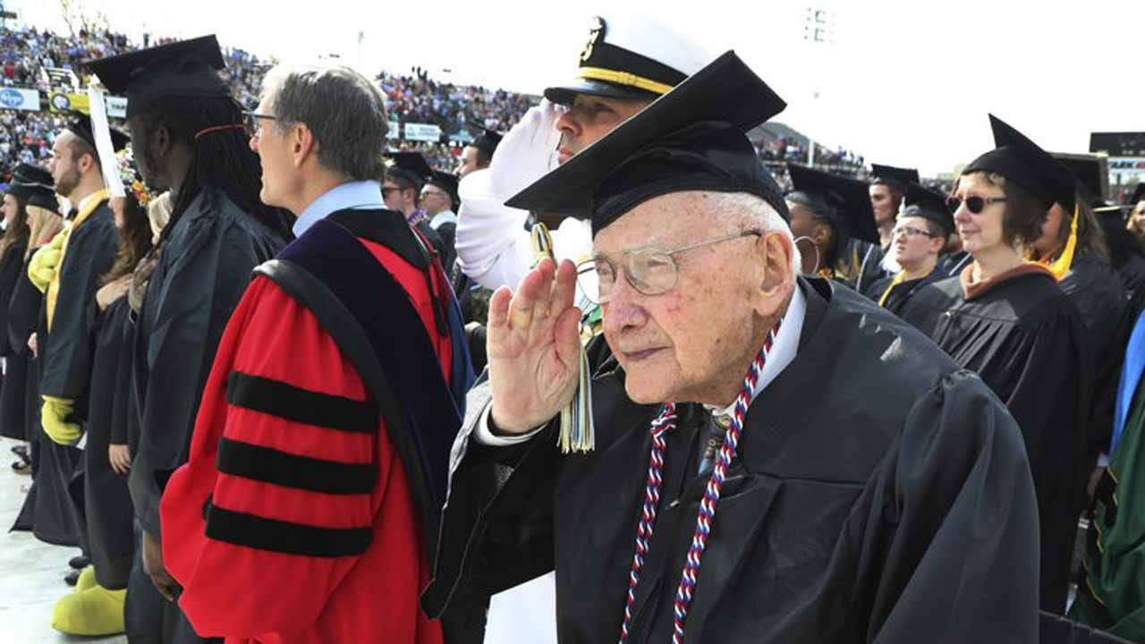 96-Year-Old WWII Vet Gets Degree Nearly 7 Decades Later