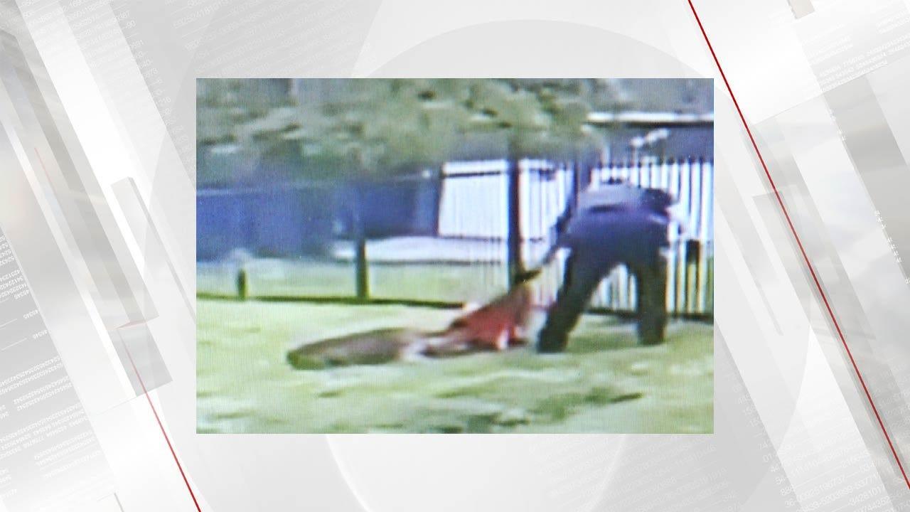 Deputy Rescues Deer Stuck In Fence In Creek County