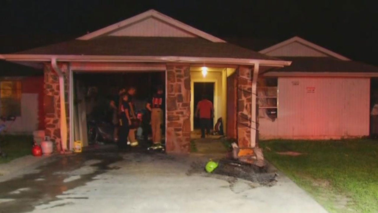 Firefighter Falls Through Ceiling At Tulsa House Fire