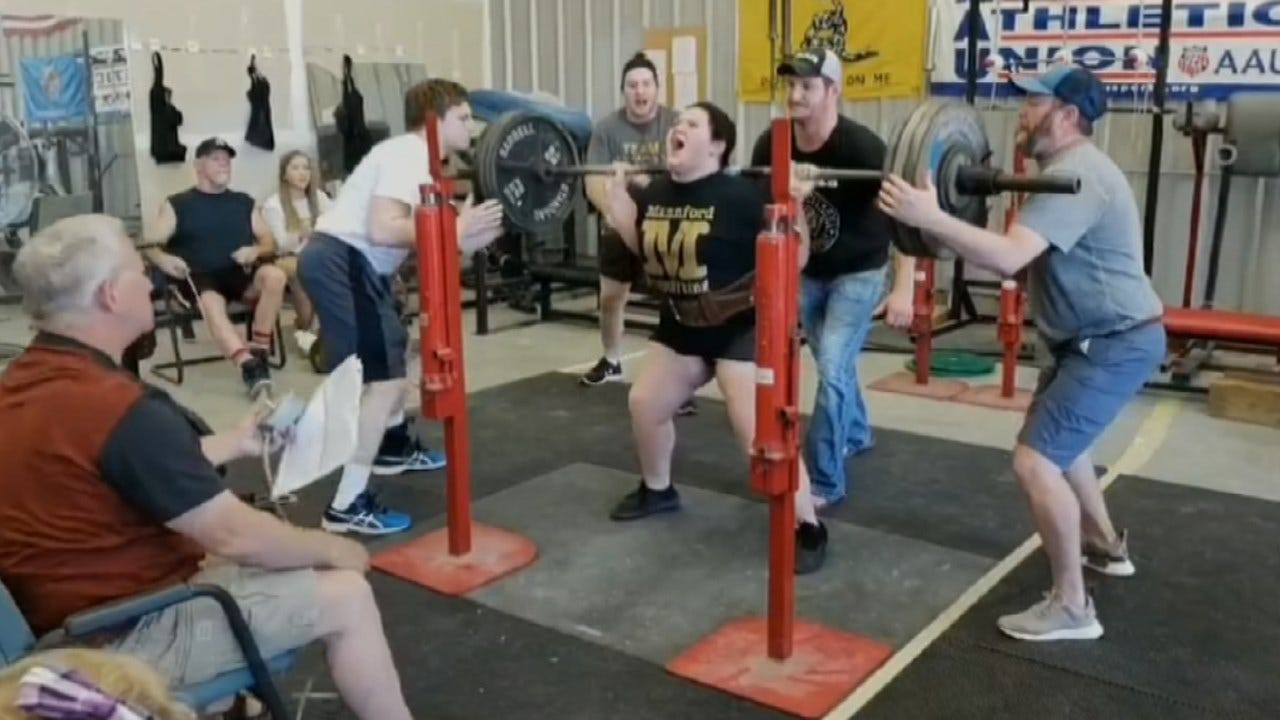 Mannford Freshman Qualifies For World Powerlifting Championship