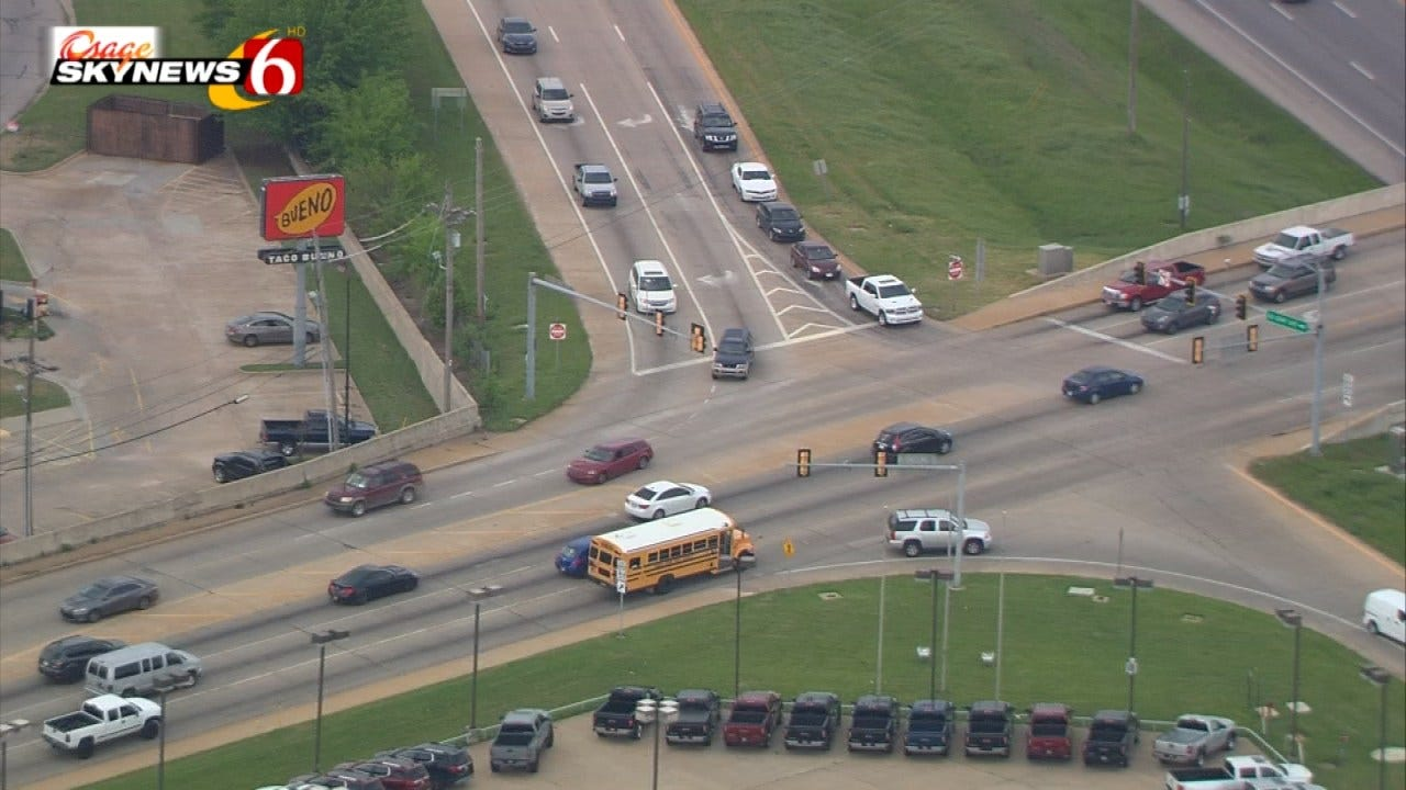 Signal Work On Elm Place At The Broken Arrow Expressway