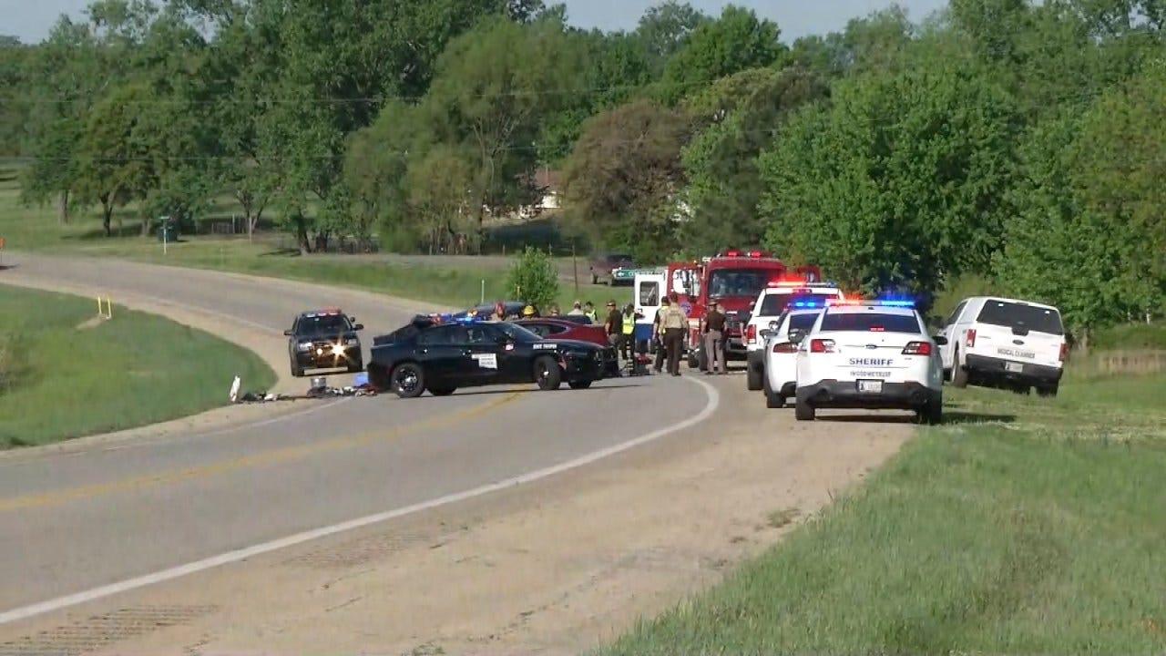 Three Killed In Head-On Crash Northeast Of Bristow