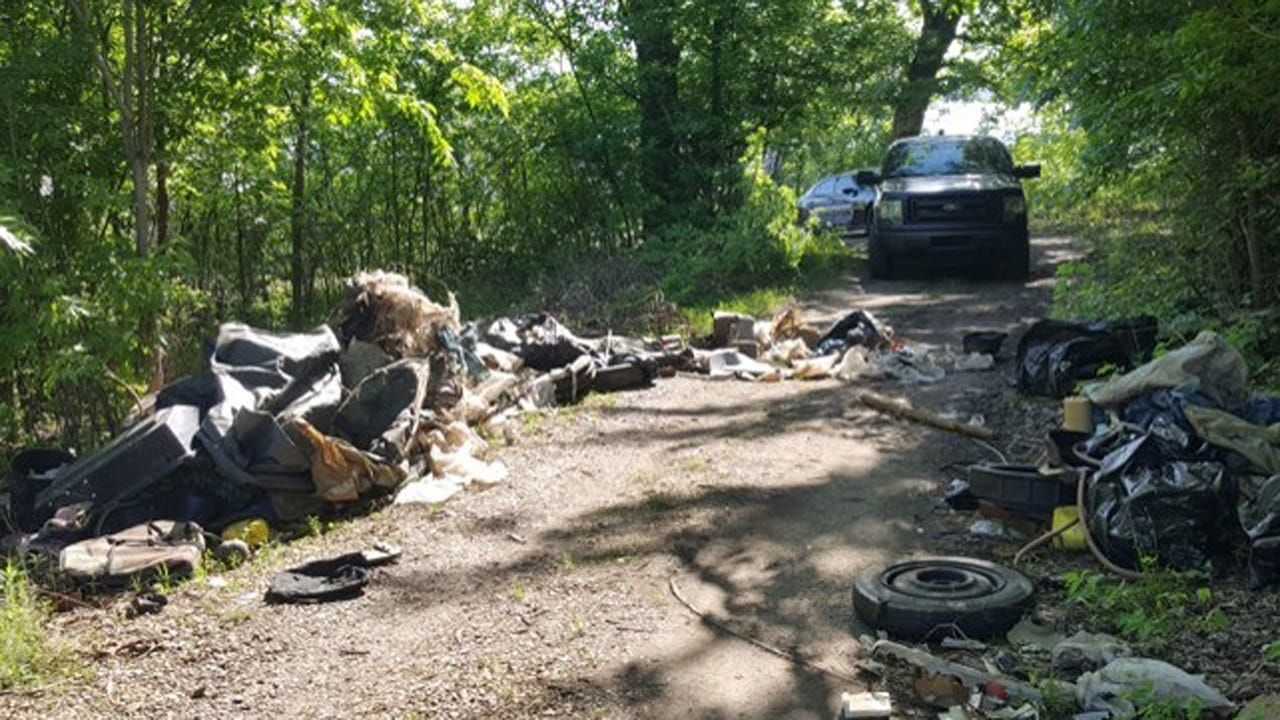 Wagoner County Deputy Cleans Up Illegal Dump Site To Protect Lakegoers