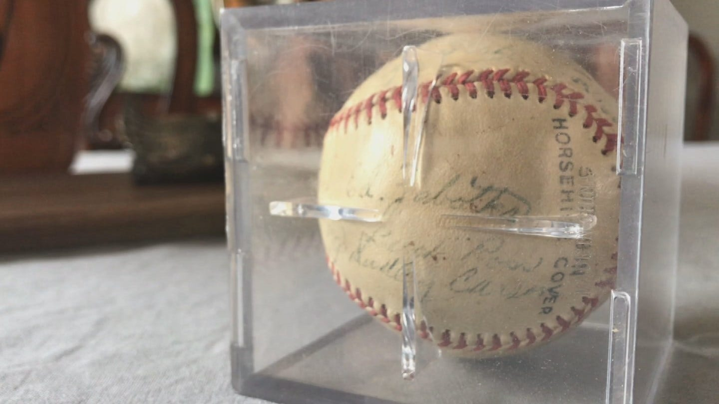 Family Of Former Pitcher Receives A Piece Of Muskogee Reds History