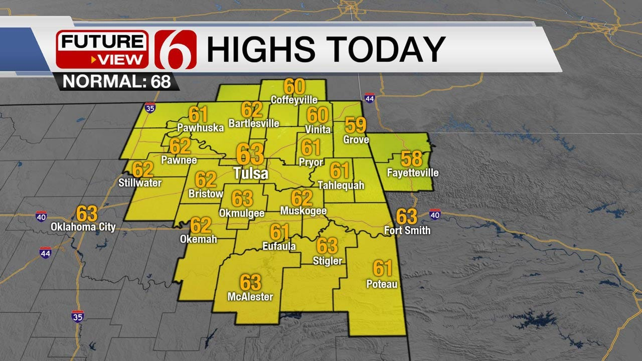 Friday Showers Move Out Of Eastern Oklahoma, Sunshine Returns