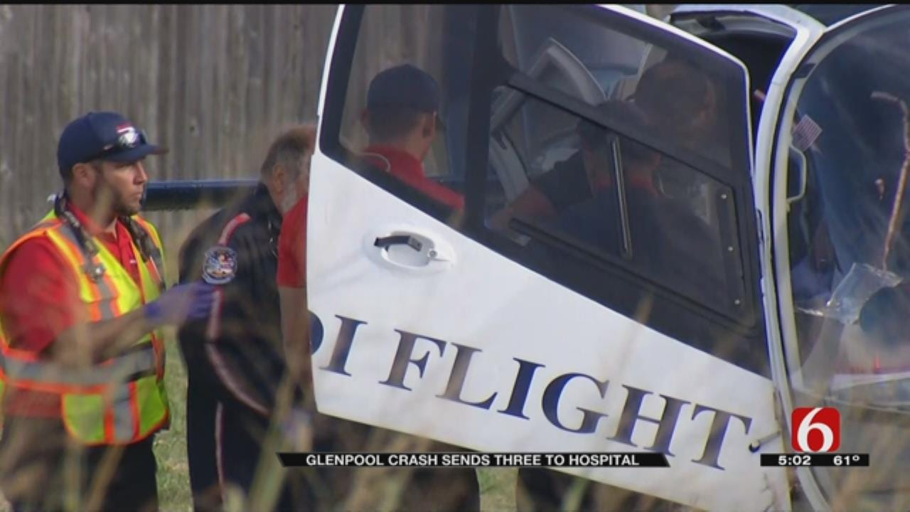 Glenpool Crash Send One To Hospital In Critical Condition