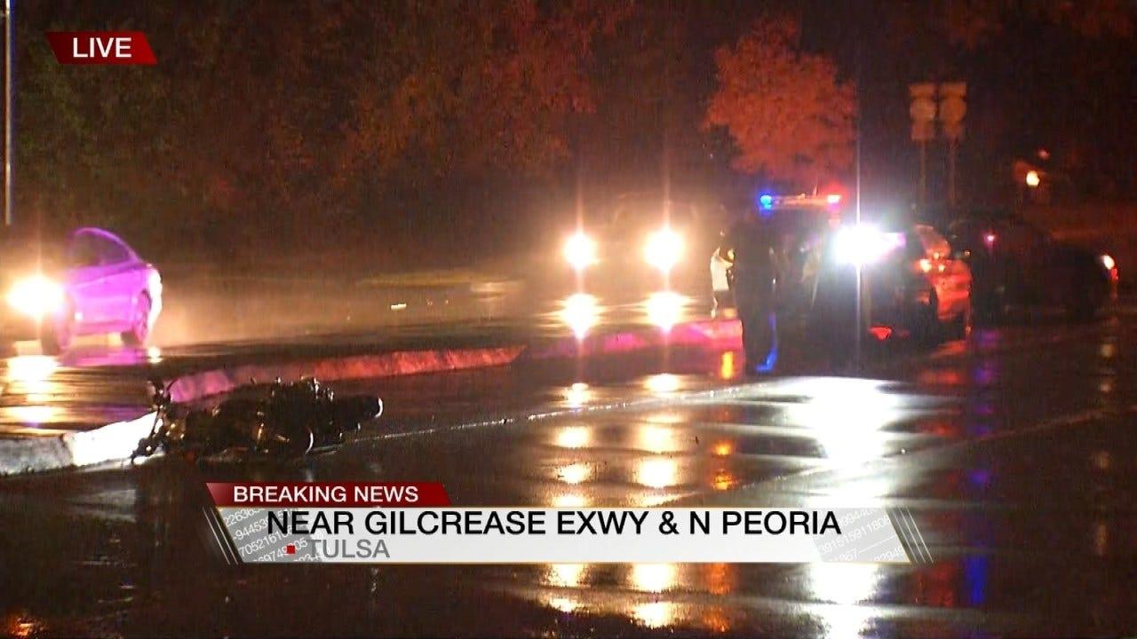 Motorcyclist Critically Hurt In Tulsa Crash