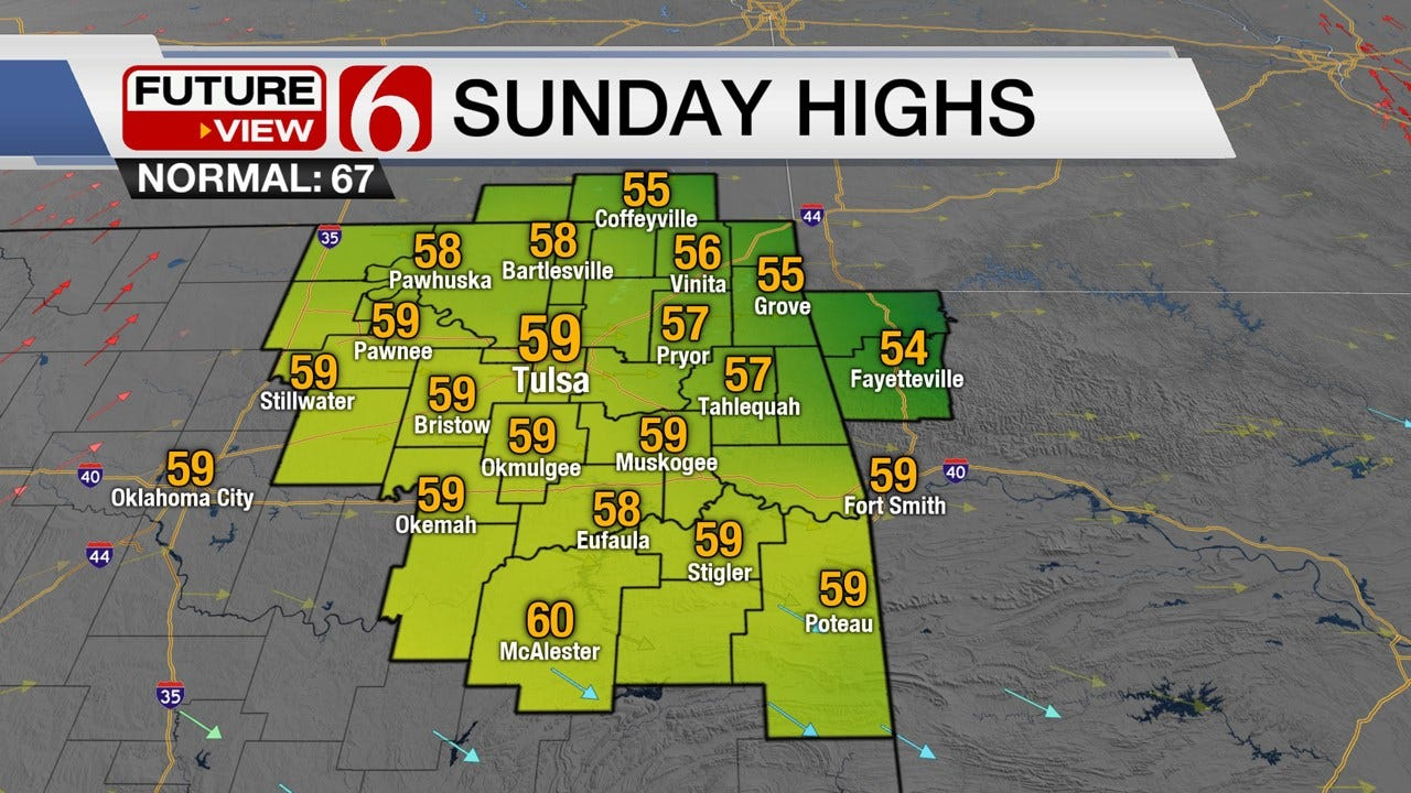 Chilly Sunday Weather As Below Normal Temperatures Return