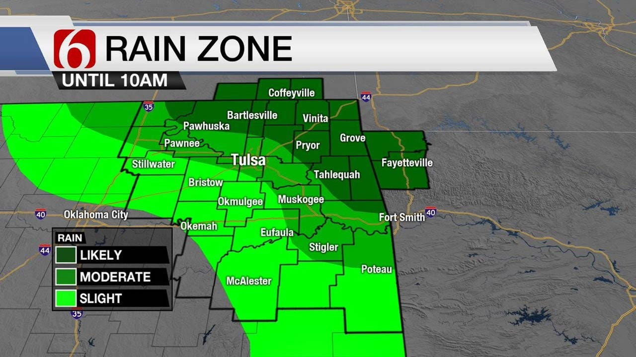 Showers Possible Today Across Northeast Oklahoma
