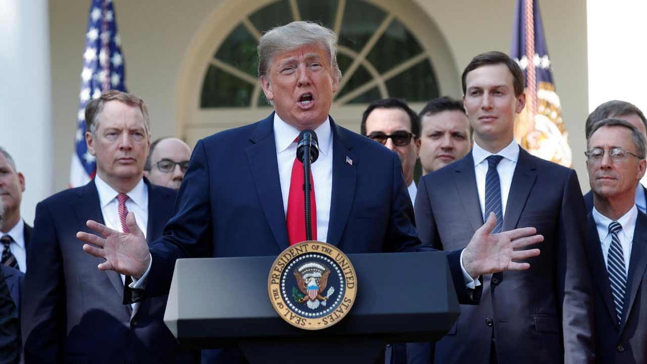 Trump Touts NAFTA Overhaul In Press Conference