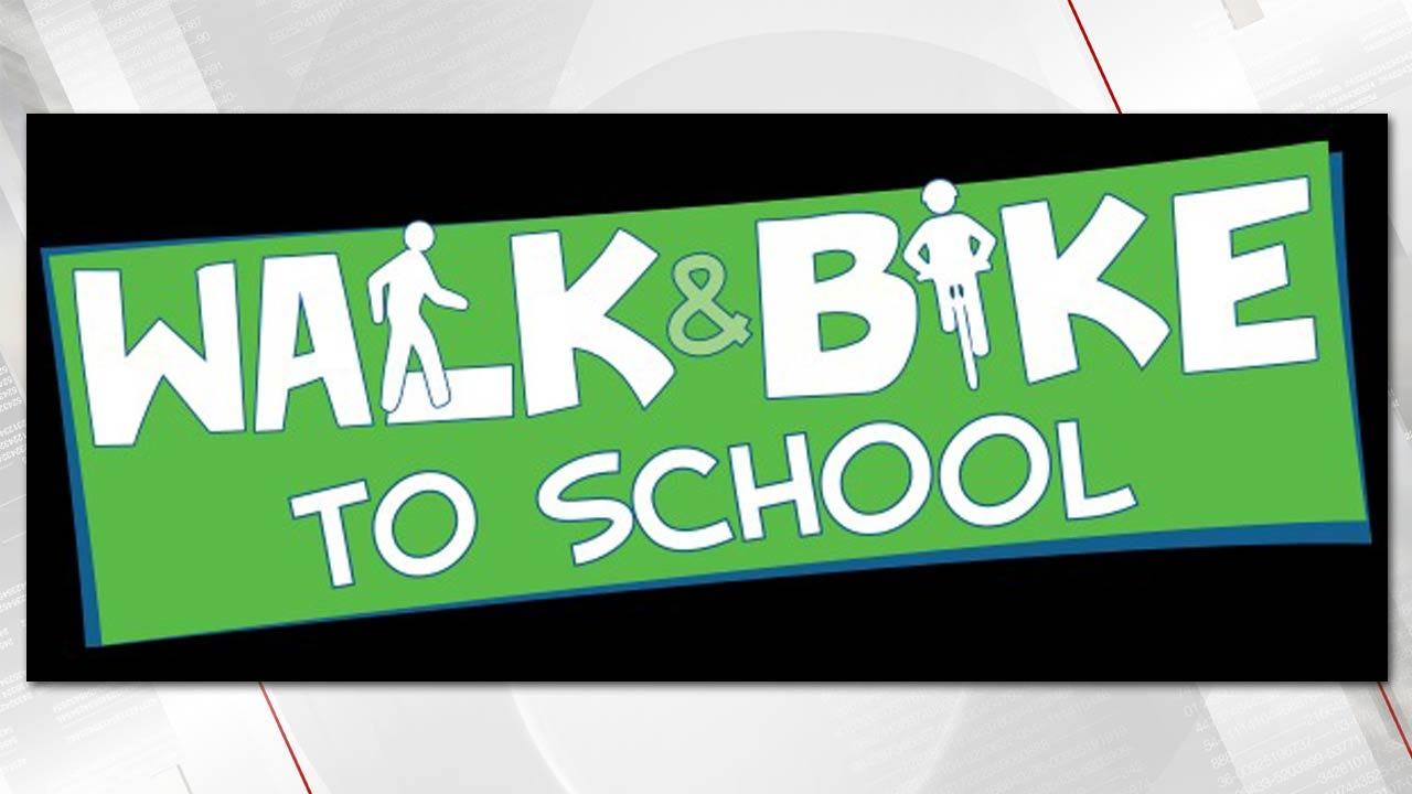 Oklahoma Students Taking Part In 'National Walk To School Day'