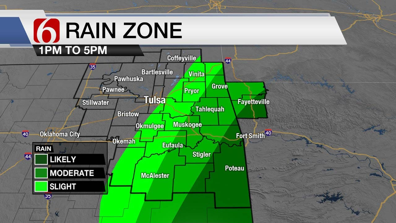 Rain Returns To Northeast Oklahoma Through The Weekend