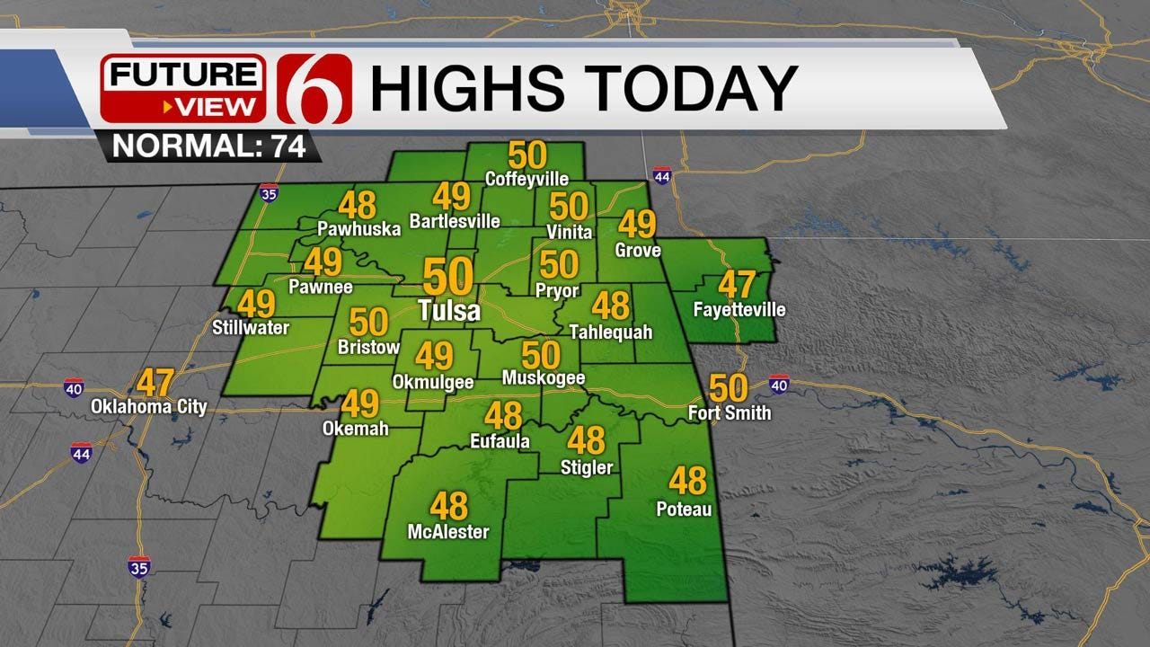 Chilly Monday Across Northeast Oklahoma