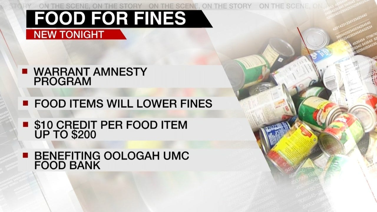 Oologah City Court Offering 'Food For Fines' During Amnesty Week