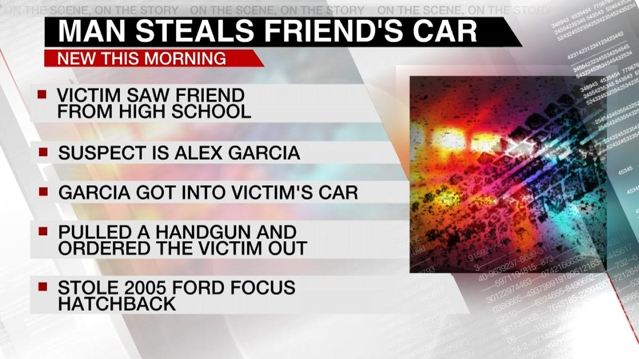 Man Says High School Friend Stole His Car At Gunpoint, Tulsa Police Say