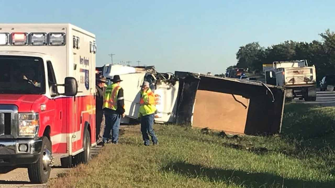 Semi, Dump Truck Crash On Highway 75 Near 211th Street South