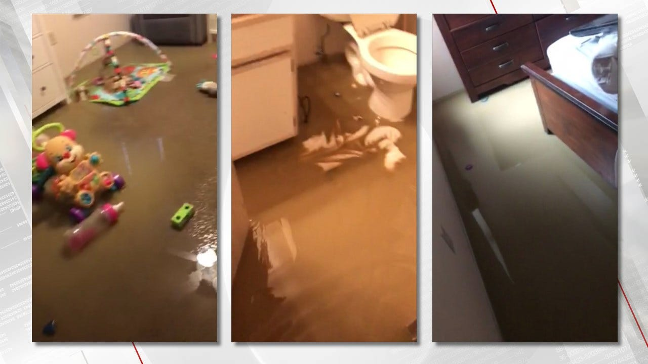 Residents Worried After Broken Pipe Floods Owasso Apartments