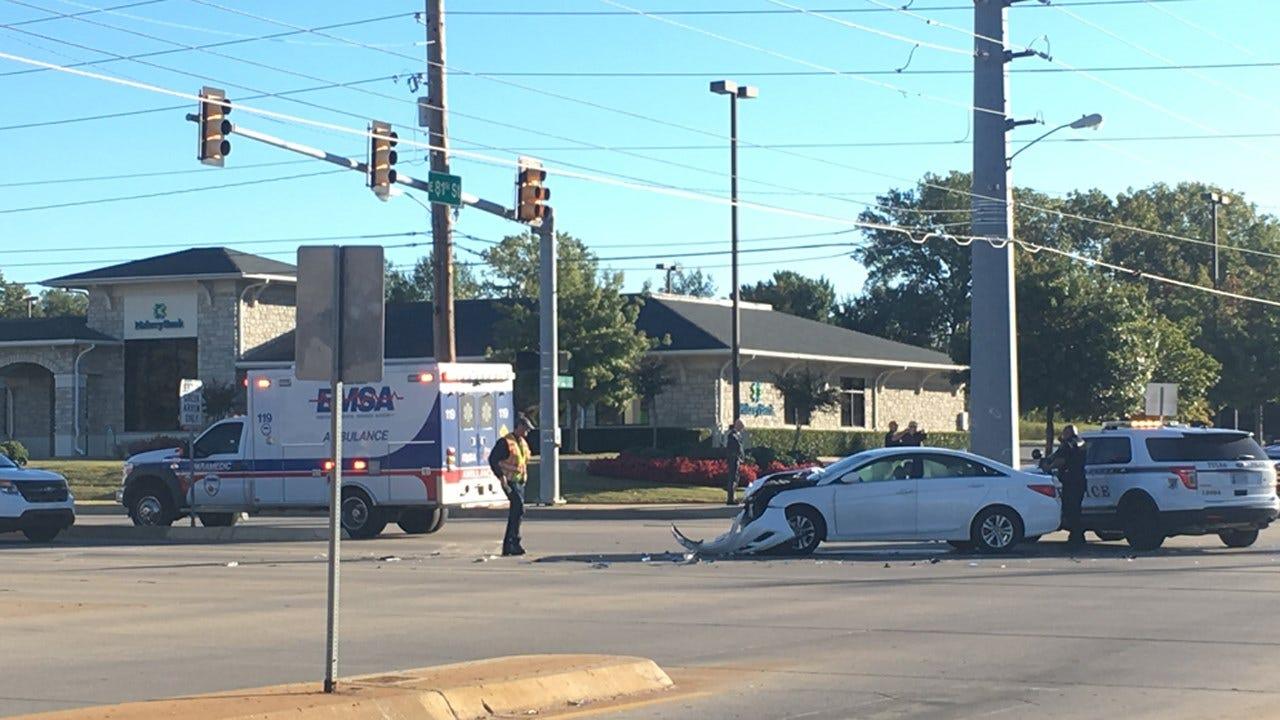 South Tulsa Car Crash Blocks Intersection