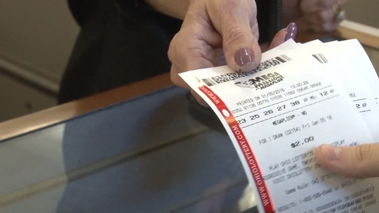 Oklahomans Stand In Line To Buy Mega Millions Lottery Tickets