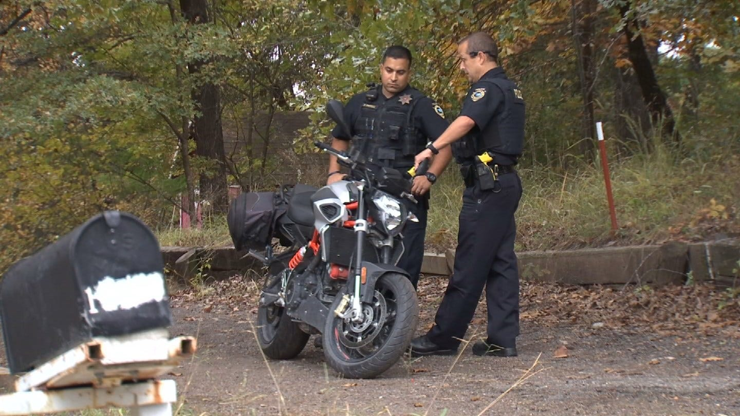 Suspect Sought After Police Chase On Stolen Motorcycle