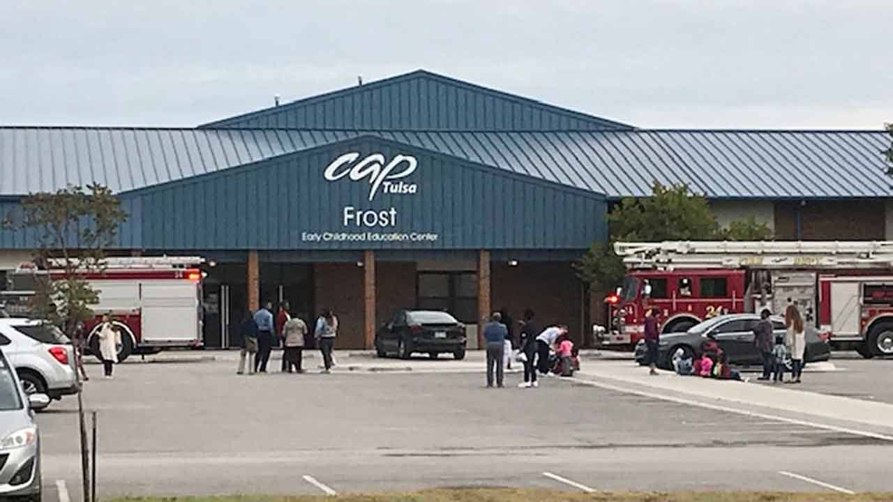 Tulsa Firefighters Give All Clear At CAP Tulsa Childhood Education Center