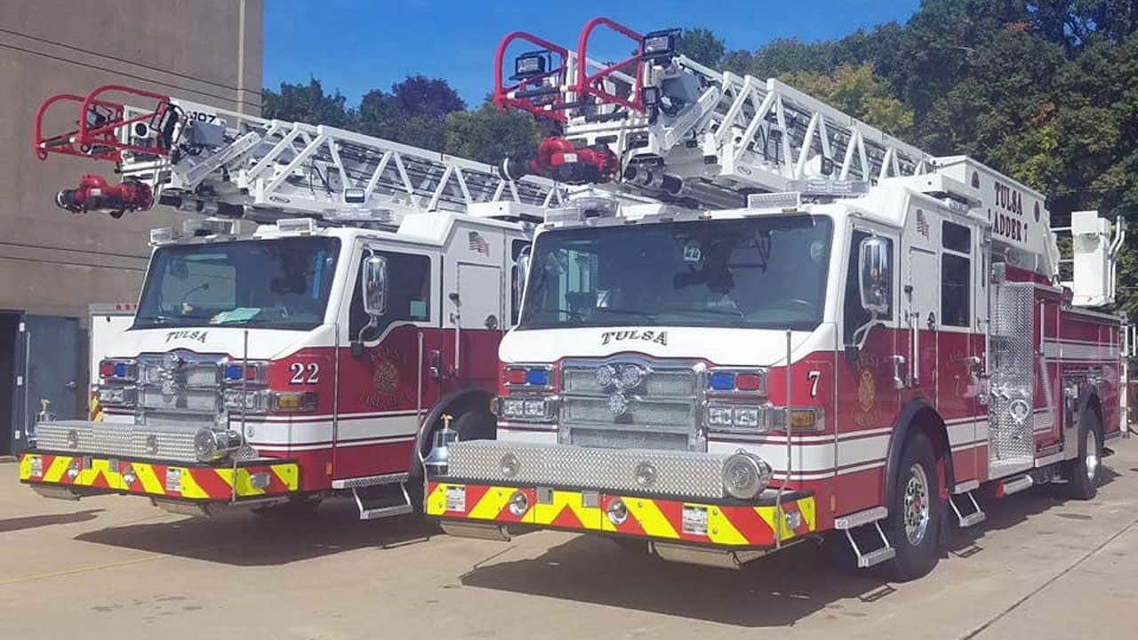 Two New Aerial Trucks Delivered To The Tulsa Fire Department