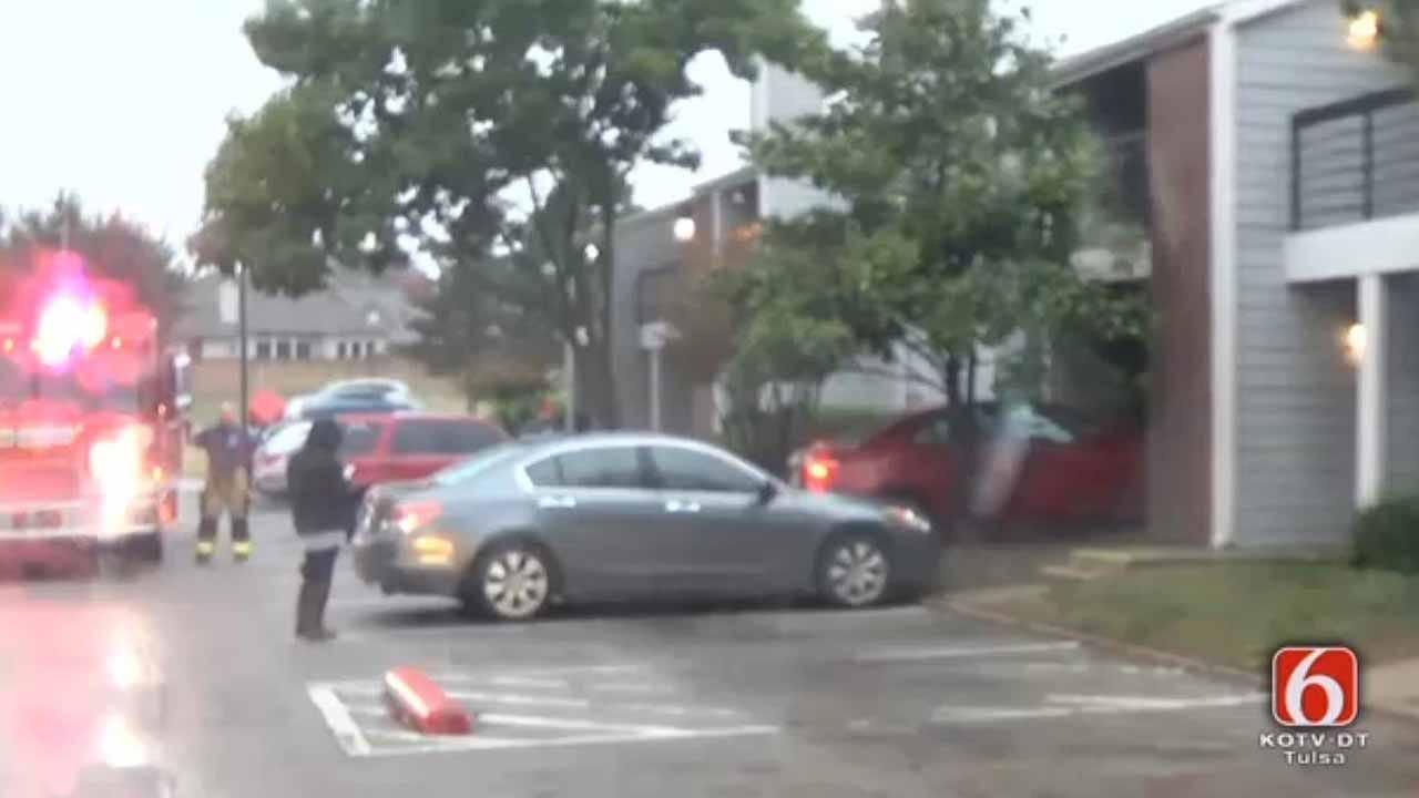 Driver Plows Into Tulsa Apartment Building