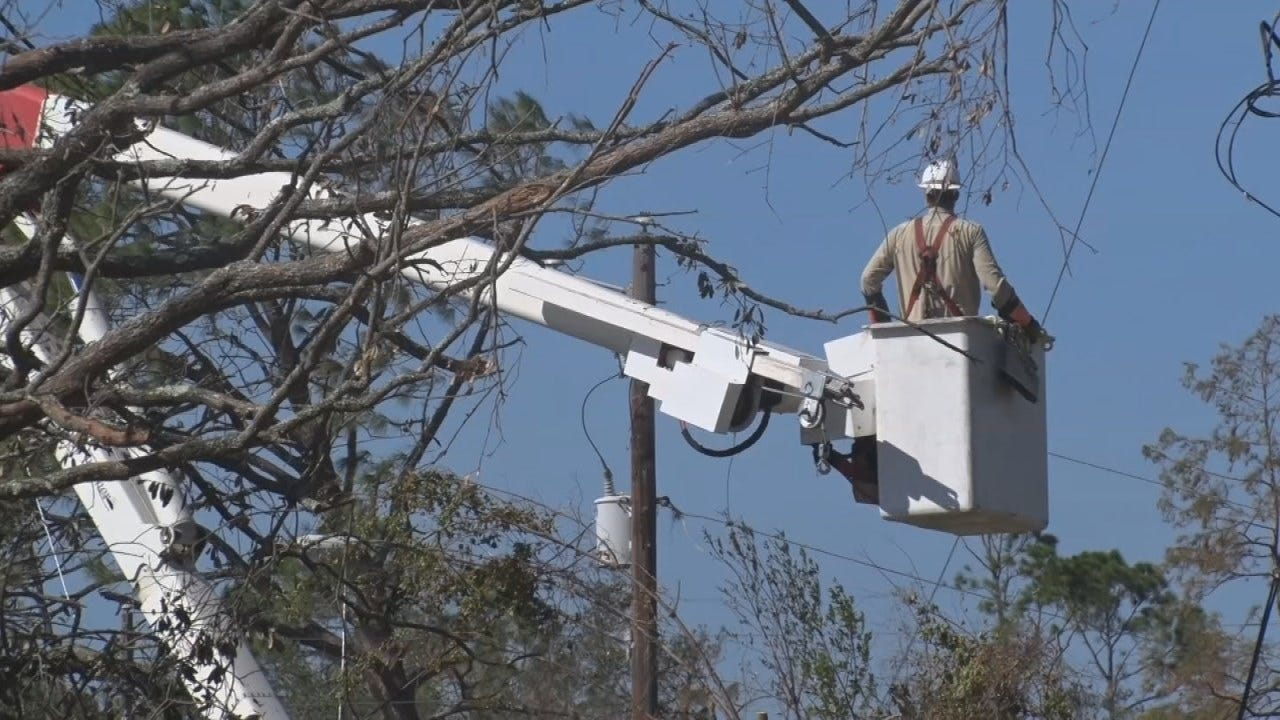 PSO Crews Return After Working To Restore Power In Florida
