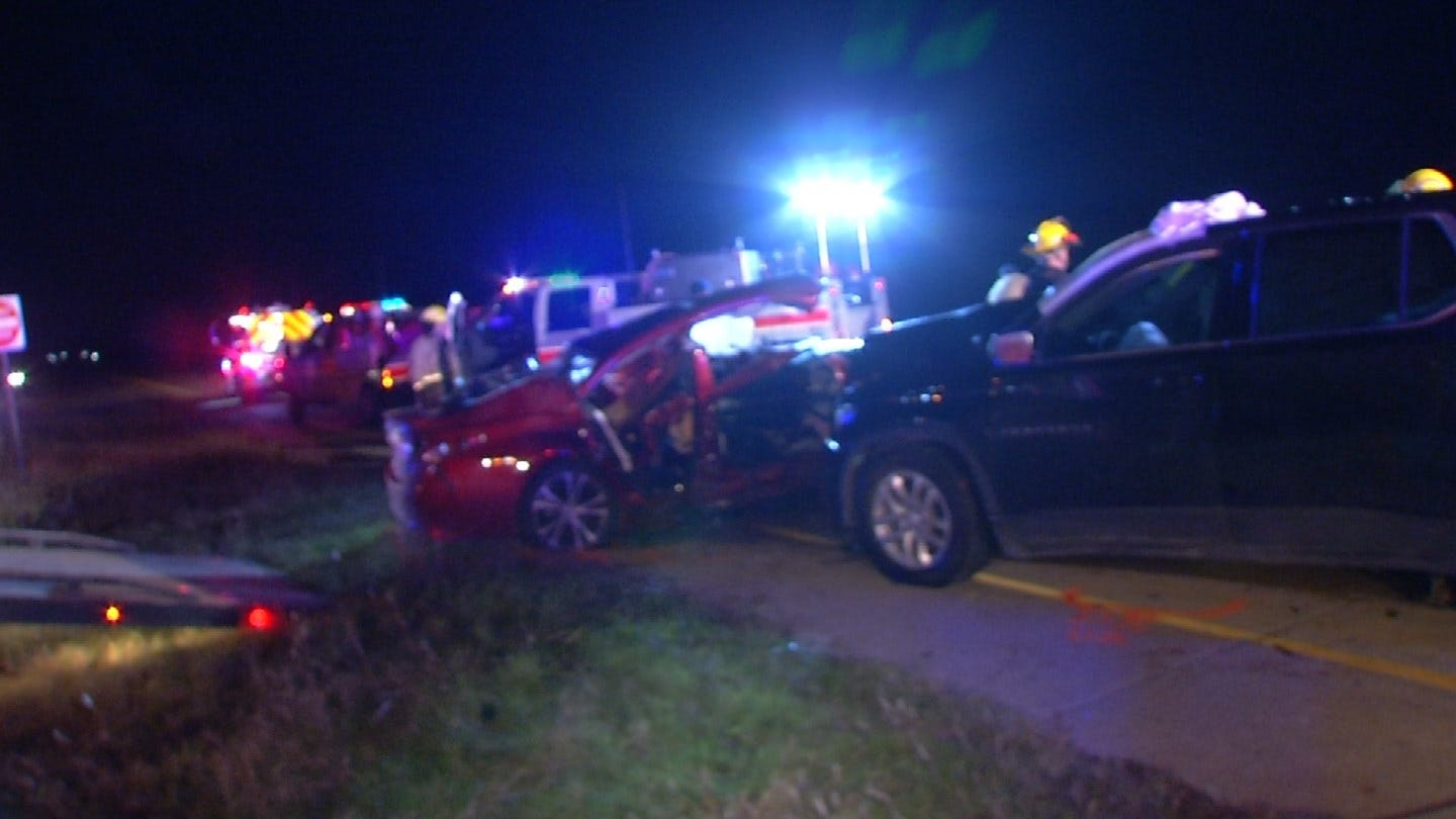 Seven Injured In Rogers County Crash