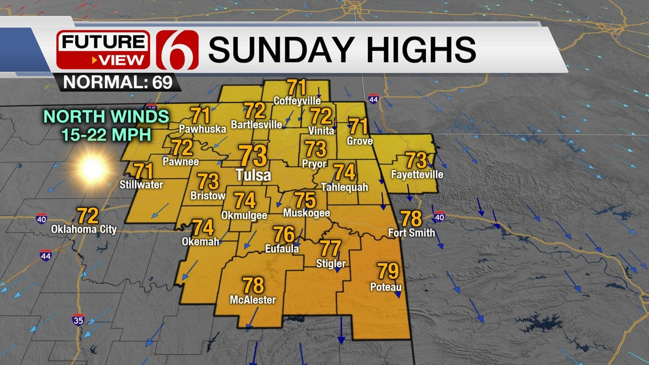 Breezy End To The Weekend Across Green Country