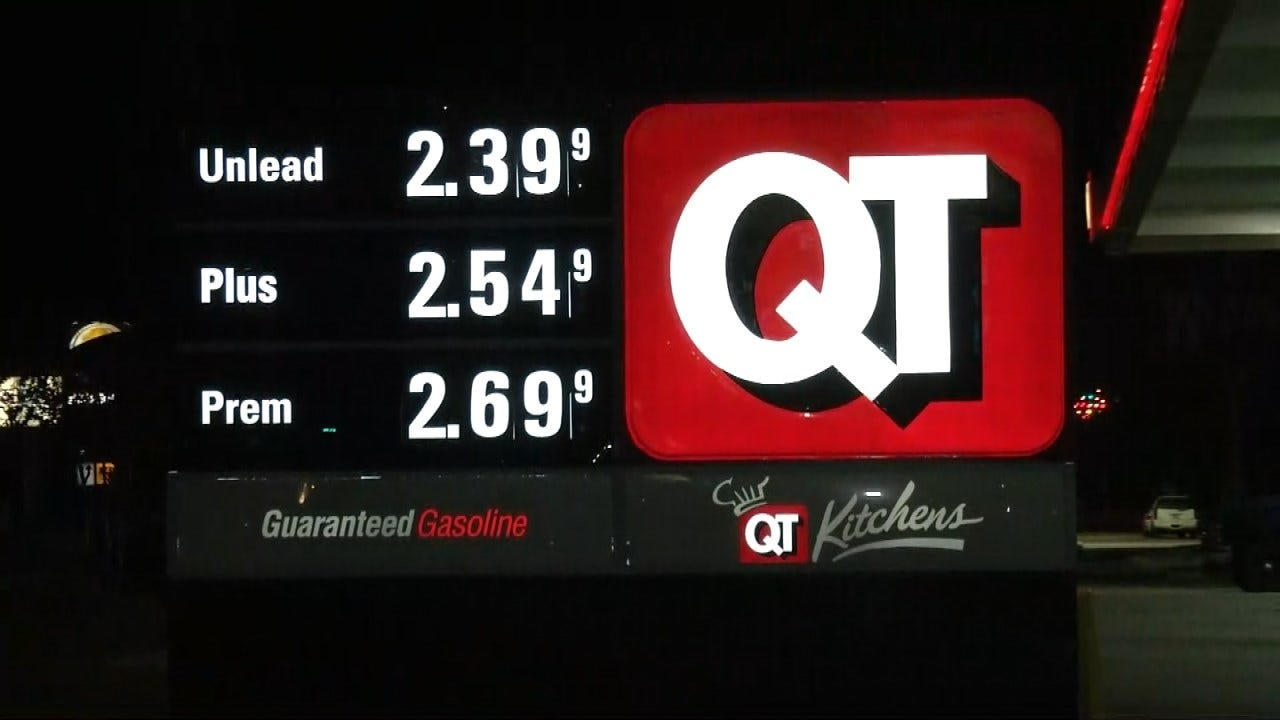 Price Of Gasoline Continues To Drop Across Eastern Oklahoma