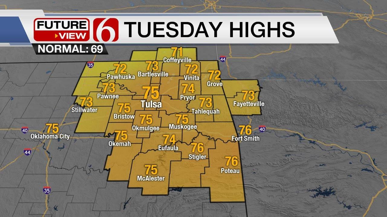 Rain Chances Return To Eastern Oklahoma By Wednesday