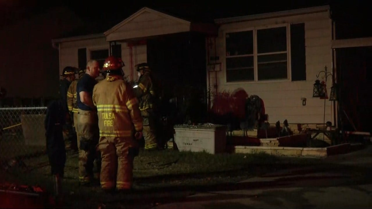 Three Escape Tulsa Home Badly Damaged By Fire