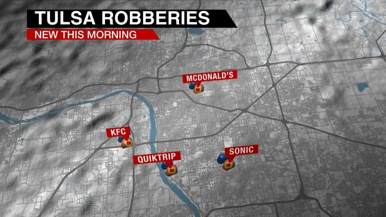 At Least 4 Tulsa Armed Robberies In Less Than 12 Hours, Police Say