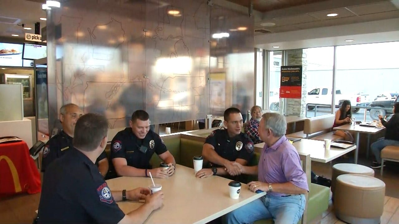 Tulsa Area Police Departments Holding 'Coffee With A Cop Day'
