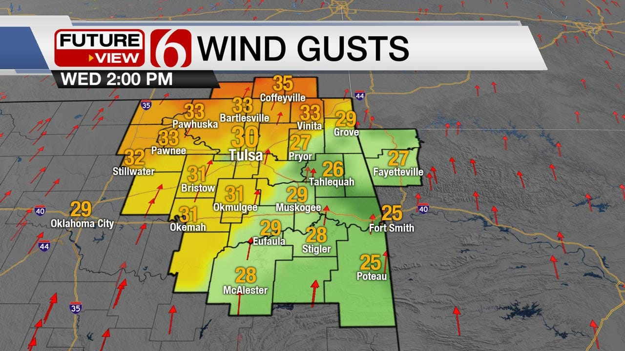 Windy, Warm Wednesday Across Eastern Oklahoma