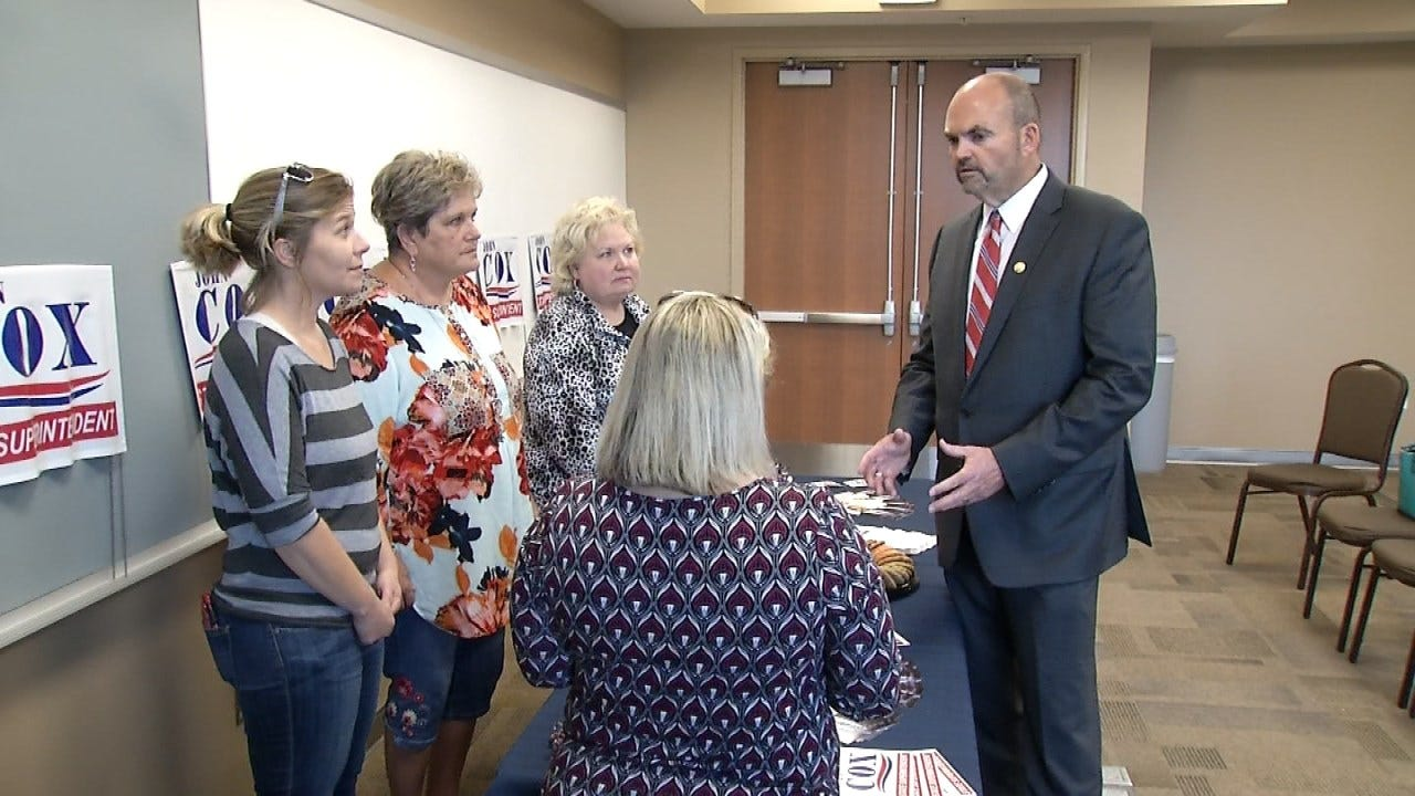 Candidate For State School Superintendent Campaigns In Glenpool