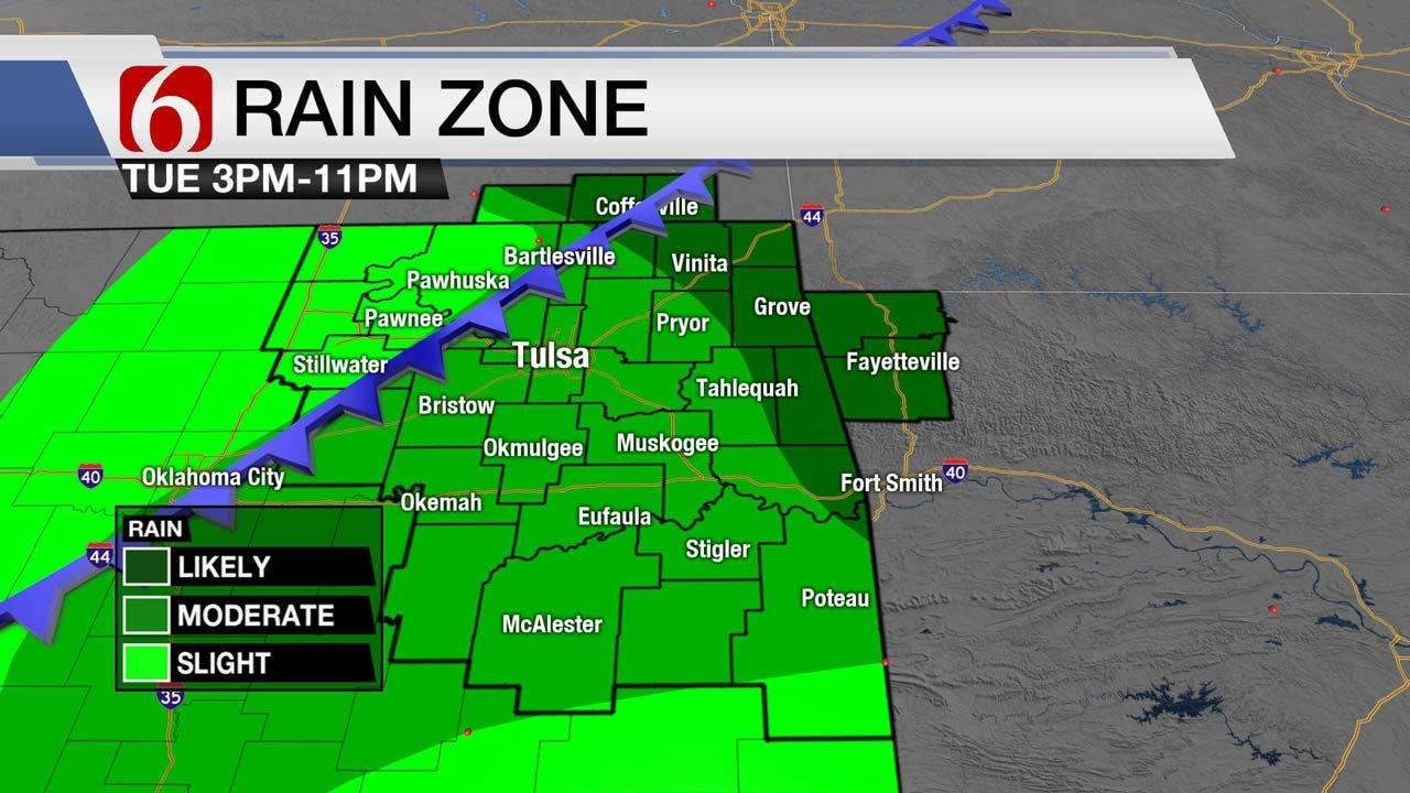Cold Front Will Bring Rain, Storms To Eastern Oklahoma