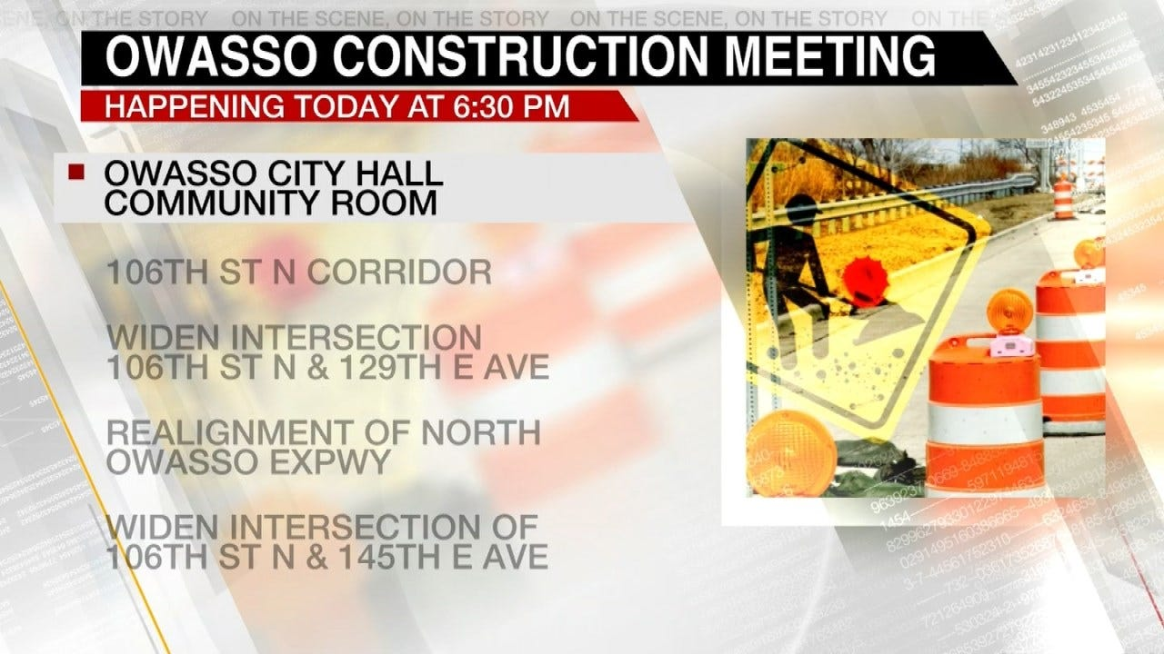 Owasso To Preview Street Construction Projects At Meeting