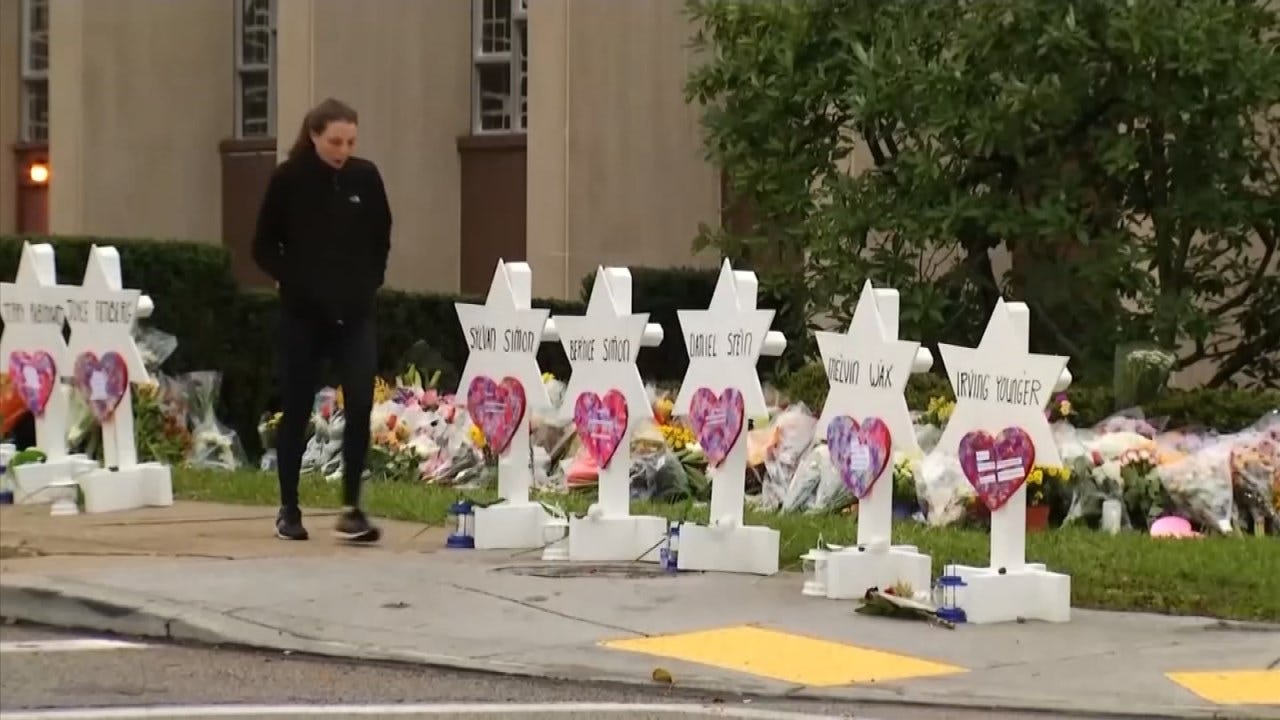 Tulsa Synagogue Holds Service Tonight For 11 Killed In Pittsburgh